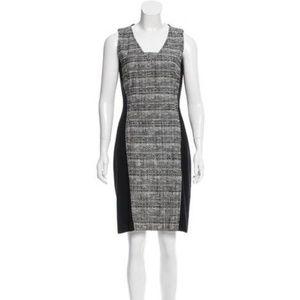Akris Punto Wool Blend Black Bouclé Sheath Dress